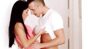 That luscious enjoy is body fucked by her man in her brittle arse
