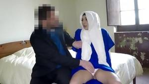 Shy arabic damsel collects teased and mouth drilled