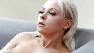 Adorable natural blonde slut is masturbating a definitely cookie
