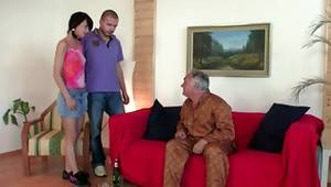 See gf porn showing corrupt dark-haired and her old wanton neighbour