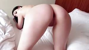 Sexy lady is bending showing her nude body